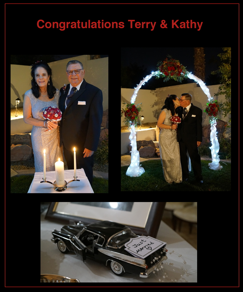 Congratulations Terry and Kathy