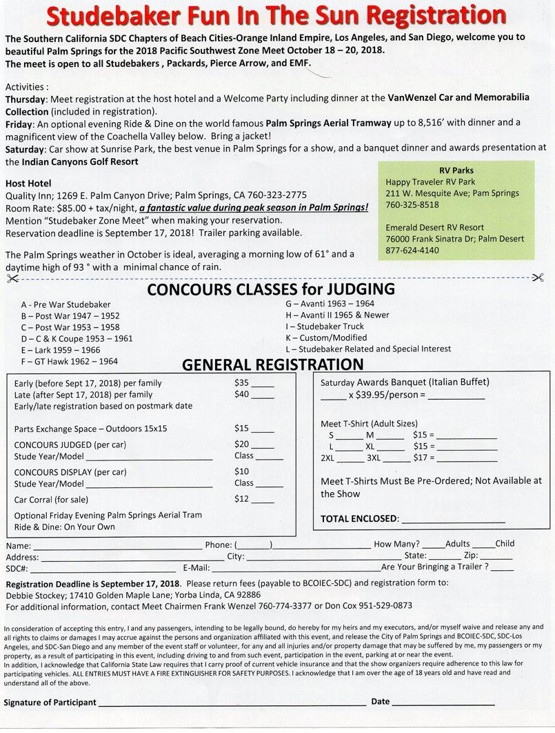 Zone Meet Registration